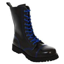 Boots & Braces - 10 buchi nero con BLAUER cuciture Stivali Rangers