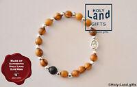 OLIVE WOOD BRACELET religious mini ROSARY HOLY LAND CATHOLIC one decade