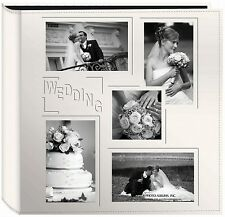 "Pioneer Collage Frame Embossed ""Wedding"" Sewn Leatherette Cover Photo Album, ..."