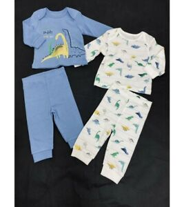 Mothercare Baby Boy Dinosaur Mummy Daddy & Me 2 Pack Pyjamas Age 1 9 12 18 24