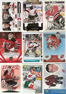 MARTIN BRODEUR a lot of 9 DIFFERENTS CARDS INSERTS near mint   LOT 89