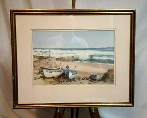 Edward Ashton Cannell original painting Sennen Cove Cornwall Manx artist
