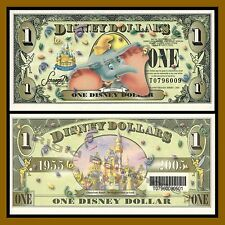 """Disney 1 Dollar, 2005 """"T"""" Series Dumbo Disney Stores """"With Barcode"""" Uncirculated"""
