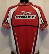 Team Hoyt GET SERIOUS Red Black S/S Polo Shirt Team Shooting Jersey SZ XL  EUC