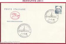 ITALIA FDC IL CAVALLINO TORINO FILATELICO CASTELLO SCILLA 1988 ANNULLO Z155