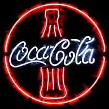 "New Coca Cola Bottle Man Cave Neon Light Sign 20""x20"""