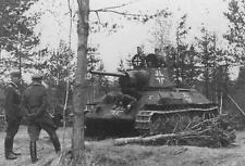 WW2 Photo T-34 Tank Captured by Germans WWII Russia World War Two Eastern Front