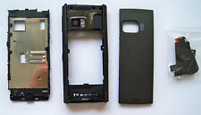 Black cover case faceplate fascia facia housing faceplate for Nokia X6 fascias