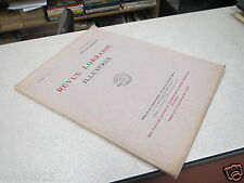 REVUE LORRAINE ILLUSTREE 8 ème année N° 1 janvier 1913 TOUL HENRI ROYER *
