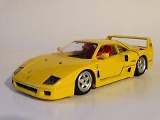 Bburago 1987 Ferrari F40 Yellow Burago 1:18 Scale Die Cast Italy Model Car 3032