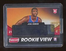 2014-15 Joel Embiid Panini Threads Rookie View Autographed Rookie RC Auto 76ers