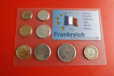 * Francia KMS IN BLISTER 8 monete * 5 centesimi - 5 Franchi (alb-p5)