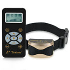 Dog Trainer E-Collar Remote Waterproof Pets Safe Shock Receiver Training Collar