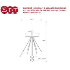 diamond Original D-190 Antenne Discone RX 100 - 1500 MHz - TX 144/430/904/1200