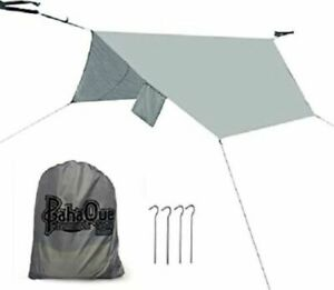 PahaQue Universal Hammock Rainfly Cover for DOUBLE Hammock Camp Hunt Hike GRAY
