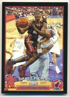DWYANE WADE 2003/04 TOPPS CHROME #115 RC ROOKIE BLACK REFRACTOR HEAT SP #165/500