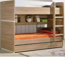 BUNK BEDS KING SINGLE BED WITH TRUNDLE & SHELVES