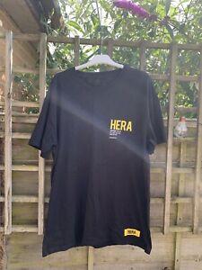 Hera London Mens T-shirt Oversized Size L Excellent condition Black