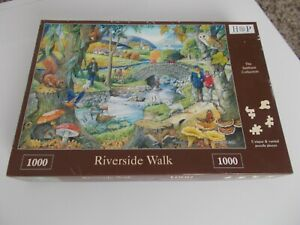"""HOUSE OF PUZZLES 1000 piece jigsaw puzzle """"Riverside Walk"""""""