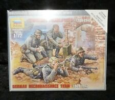 Zvezda 6153 German Reconnaissance Team WW2 1939-42 Figures 1/72 Scale Model Kit