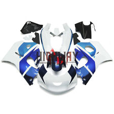 For Suzuki GSXR600 GSXR750 1996-1999 ABS Fairing Kit Bodywork Cowling White Blue