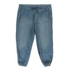 Style & Co. 7969 Womens Blue Chambray Flat Front Jogger Pants L Retails $49