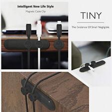 Magnetic Cable Clip Organizer Wire Cord Management Desktop Winder Line Holder T