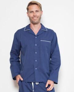 Cyberjammies Pyjama Top Only Mens Ben Dobby Stripe Pyjama Top Long Sleeve