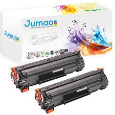 2 Toners cartouches Jumao type CF283A pour HP LaserJet Pro M125a M125nw M127fn