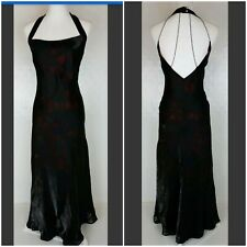 Roman originals maxi dress size 12 black red party evening cocktail cage backVGC
