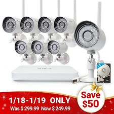 Funlux 1080p 8CH NVR 1.0 Megapixel HD Wireless Home Security Camera System 1TB