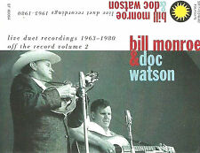 BILL MONROE DOC WATSON LIVE DUET 63-80 VOL 2  CASSETTE ALBUM SMITHSONIAN FOLKWAY
