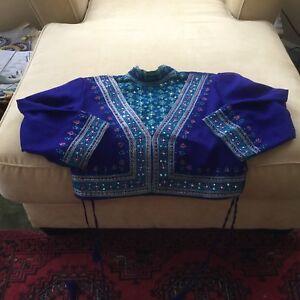 Girls Custom Made Renaissance Top Sequins & Embroidery Lg