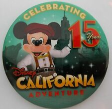 DCA Disney's California Adventure 15 Years 2001 - 2016 Commemorative Button