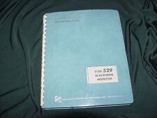 Tektronix Type 529 Waveform Monitor Instruction Manual-1965