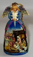 Jim Shore Angel with Nativity Scene 2006 Christmas Ornament #4005767