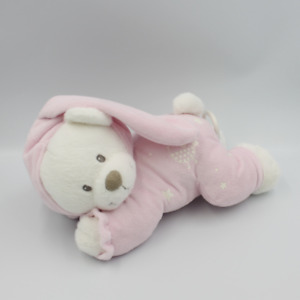 Doudou musical luminescent ours lapin blanc rose oiseau étoiles NICOTOY - Ours S