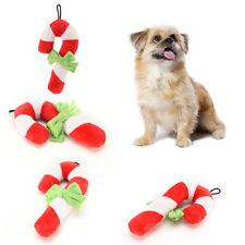 Weihnachten Pet Plüschtier Weihnachten Farbe Squeaker quietschende Krücke Form