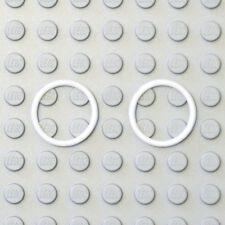 Lego 2x Genuine Technic White 15mm Elastic Rubber Band O-Ring 70902 6049739 NEW