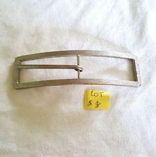 1 boucle de ceinture métal argenté bombé - 150x28mm - 5G