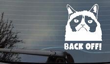 Grumpy Cat  STICKER BACK OFF WINDOW BODYWORK  BUMPER  4X4 CAR VAN LAPTOP  JDM
