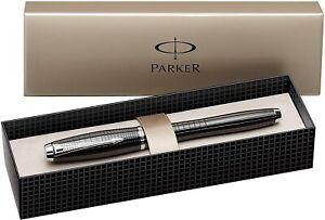 Parker Urban Premium Rollerball Pen Ebony Lacquer Fine Nib Black Ink Gift Boxed