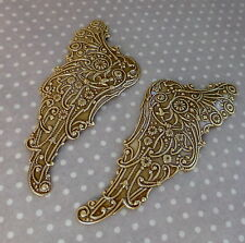 2 pcs Vintaj Brass, filigree, component - Mythical Wing