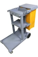 Genuine JL Janitorial Cleaning Cart Rolling Janitor Ultility Cart with Cover