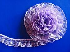 LAVENDER~2 Inch Wide Ruffled Candlewick Lace Trim~By 5 Yards