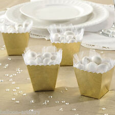 100 Classic GOLD Wedding Engagement Party Gift Scalloped Favour Boxes