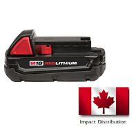 Milwaukee M18 18V 1.5 Ah Compact REDLITHIUM Li-Ion Battery 48-11-1815 New