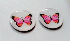 anneys ~TWO - GOLF  BALL  MARKERS - butterfly ~