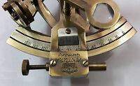 Nautical Antique Solid Brass Sextant Vintage Marine Kelvin Hughes Sextant Gift.