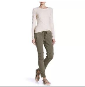 James Perse Womens Small Khaki Soft Drape Utility Pants Size 0 Beige